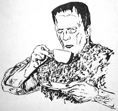 Boris Drawing - Tea Time by Bryan Bustard