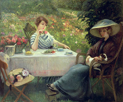 Dinner Painting - Tea Time by Jacques Jourdan