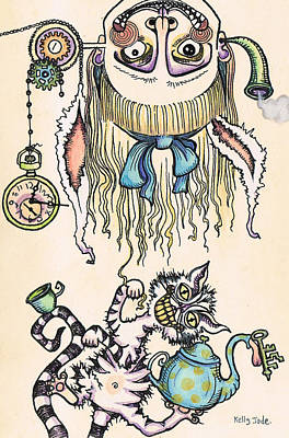 Tea Time Print by Kelly Jade King