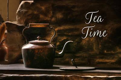 Log Cabins Mixed Media - Tea Time by Lori Deiter