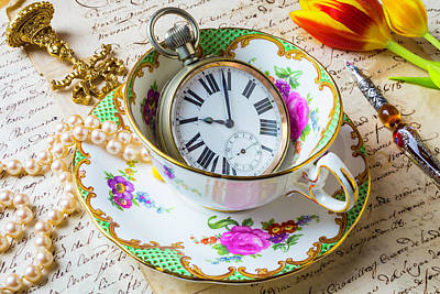 Tea Time With Pearls Print by Garry Gay