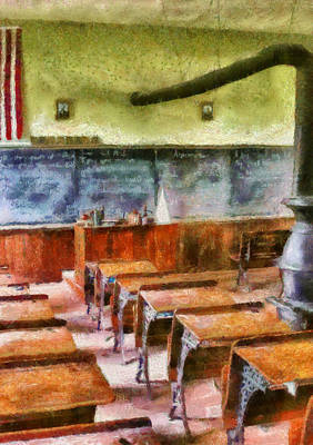 School Days Photograph - Teacher - Pay Attention In Class by Mike Savad