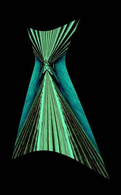 Teal Dress Print by Mary Russell