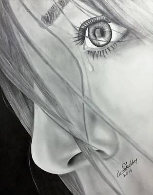 Tears Drawing - Tear by Garrett Haddox