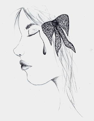 Tears Drawing - Tear by Stacey Turner