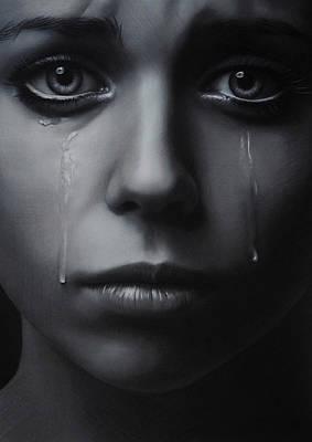 Tear Drawing - Tears by Brita Seifert