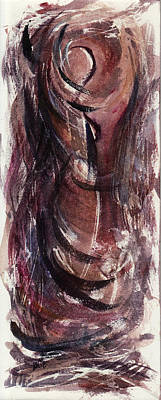 Depression Painting - Tears In Silence by Rachel Christine Nowicki