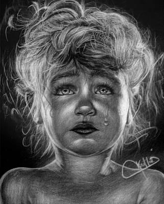 Tears Drawing - Tears Of Sorrow  by Krimat Ibrahim