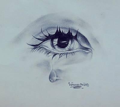 Tears Drawing - Tears by Vipindas Nair