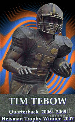 Tim Tebow Photograph - Tebow by D Hackett