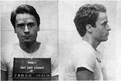 Jail Painting - Ted Bundy Mug Shot 1975 Horizontal  by Tony Rubino