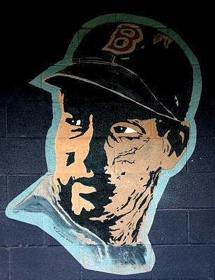 Baseball History Painting - Ted Williams by Ralph LeCompte
