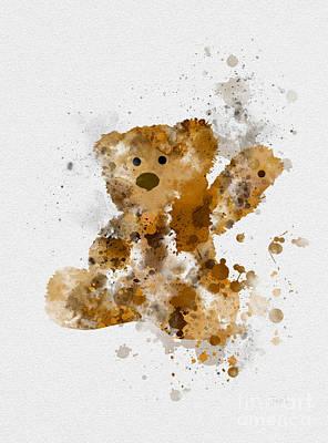 Teddy Bear Mixed Media - Teddy Bear 2nd Edition by Rebecca Jenkins