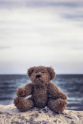 Teddy Bear At The Sea Print by Joana Kruse