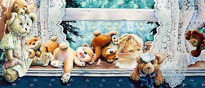 Teddy Tricks Print by Hanne Lore Koehler
