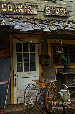 Cabin Window Photograph - Teddy's Country Store by Adam Jewell