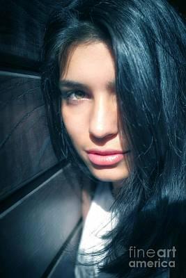 Green Eyes Photograph - Teen Portrait by Carlos Caetano