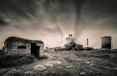 Teesside Steelworks 2 Print by Dave Bowman