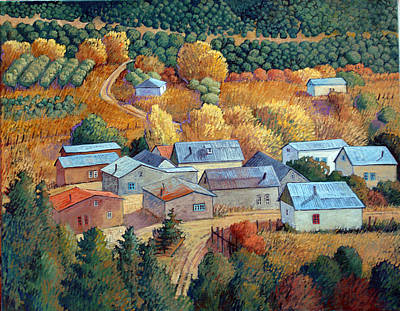 Rooftops Painting - Tejados De Cordova by Donna Clair
