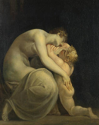 Greek Mythology Painting - Tekemessa And Eurysakes by Henry Fuseli