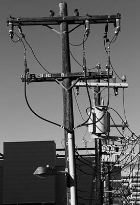 Telephone Poles Photograph - Telephone Rings  by JC Photography and Art