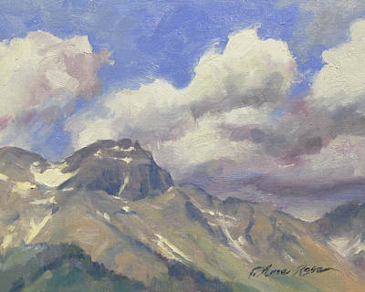Haze Painting - Telluride Clouds by Anna Rose Bain