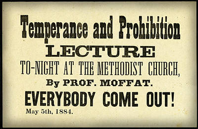 1884 Digital Art - Temperance And Prohibition Lecture by Digital reproductions