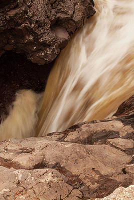 Temperance River Photograph - Temperance River Falls In Northshore Minnesota by Matthew Kirsch