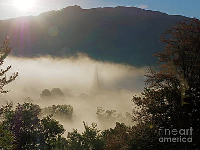 Temperature Inversion Traps Mist Over Ambleside Print by Louise Heusinkveld