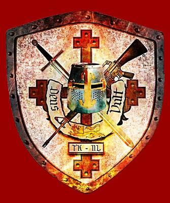 Templar Crest Print by Knights Templar Art