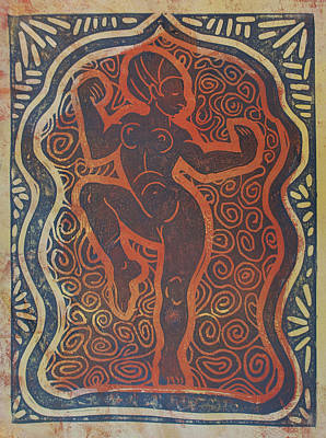 Temple Dancer Print by Diana Blackwell