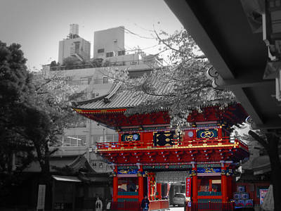 Monk Photograph - Temple In Tokyo by Naxart Studio