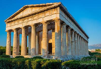 Acropolis Photograph - Temple Of Hephaestus by Inge Johnsson