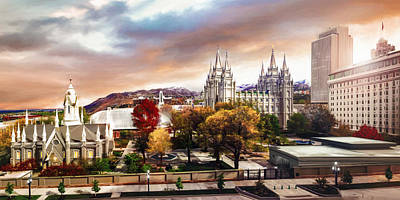 Temple Square #2 Print by Brent Borup