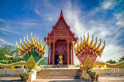 Cobra Digital Art - Temple Thailand by Adrian Evans
