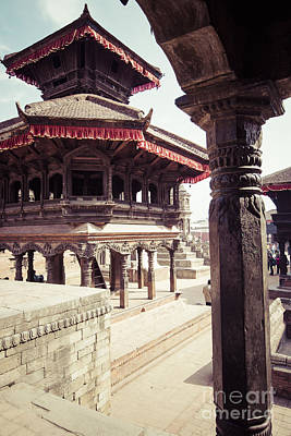 Satue Photograph - Temples Of Durbar Square In Bhaktapur, Kathmandu, Nepal. by Mariusz Prusaczyk