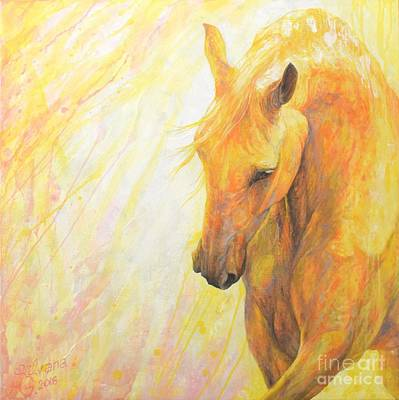 Dressage Painting - Temptation by Silvana Gabudean