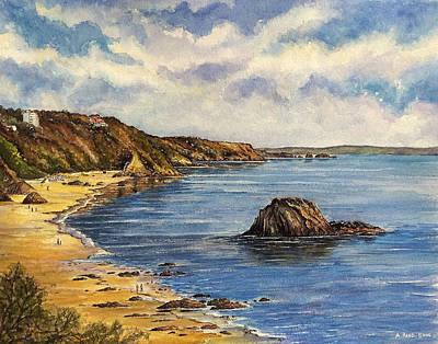 Tenby Beach Original by Andrew Read