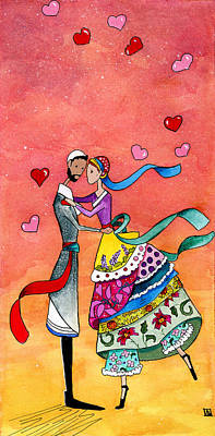 Jewish Painting - Tenderness by Dawnstarstudios