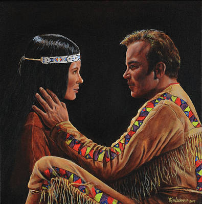 Captain Kirk Painting - Tenderness In His Touch by Kim Lockman