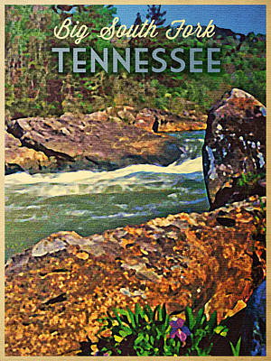 Cumberland River Digital Art - Tennessee Big South Fork by Flo Karp