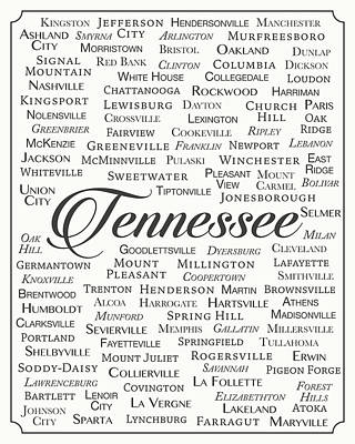Clarksville Digital Art - Tennessee by Finlay McNevin