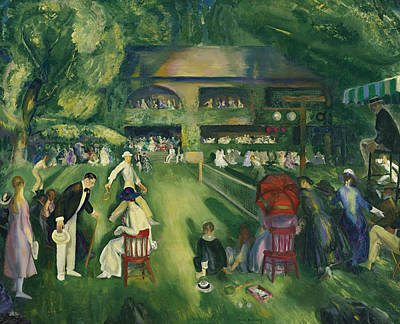 George The Painter Painting - Tennis At Newport by George Bellows
