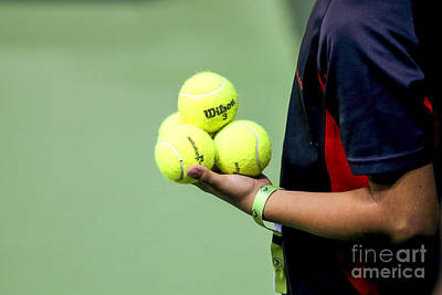 Tennis Ballboy Print by Lilach Weiss