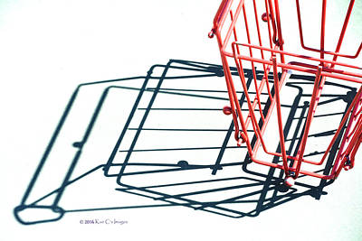 Tennis Court Pickup Basket Print by Kae Cheatham