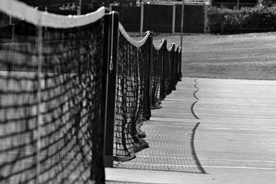 Tennis Courts Print by Tracy Smith