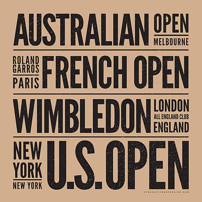Digital Art - Tennis Grand Slams by Mark Brown