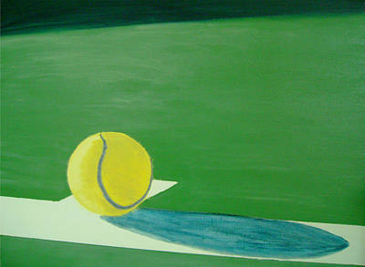 Us Open Painting - Tennis Reflections by Ken Pursley