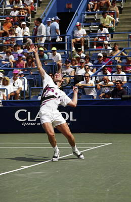 Us Open Photograph - Tennis Serve by Sally Weigand