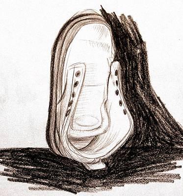 Tennis Shoe Drawing - Tennis Without Braid by Daniel Ribeiro